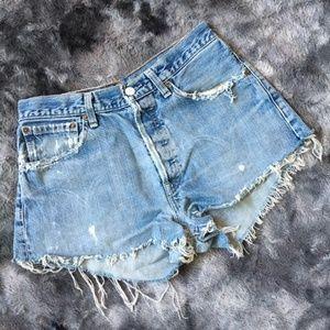 Levi's Destroyed Vintage Shorts